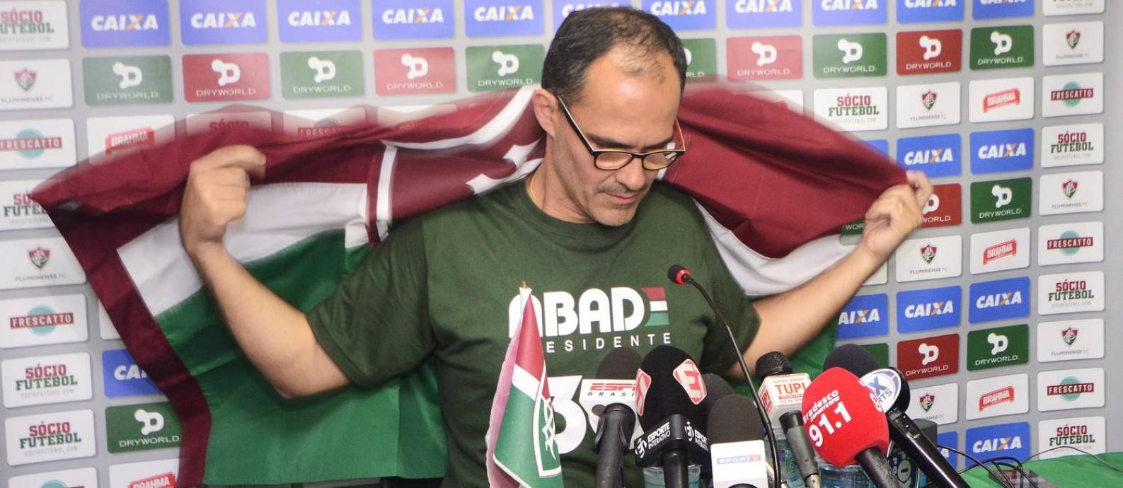 Pedro Abad, presidente eleito do Fluminense, quer contratar um ídolo para o futebol Foto: Mailson Santana / Fluminense