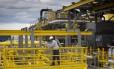 Em construção. Plataforma Saquarema, no estaleiro, antes de entrar em operação. Fornecedores temem novas regras