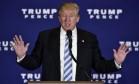 Donald Trump fz discurso em evento na Pensilvânia Foto: MANDEL NGAN / AFP