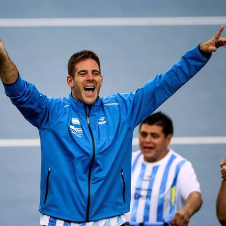 A emoção de Del Potro ao ganhar a final da Copa Davis Foto: MARKO DJURICA / REUTERS