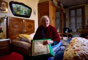 Emma Morano completa 117 anos nesta terça-feira, 29 de novembro Foto: OLIVIER MORIN / AFP