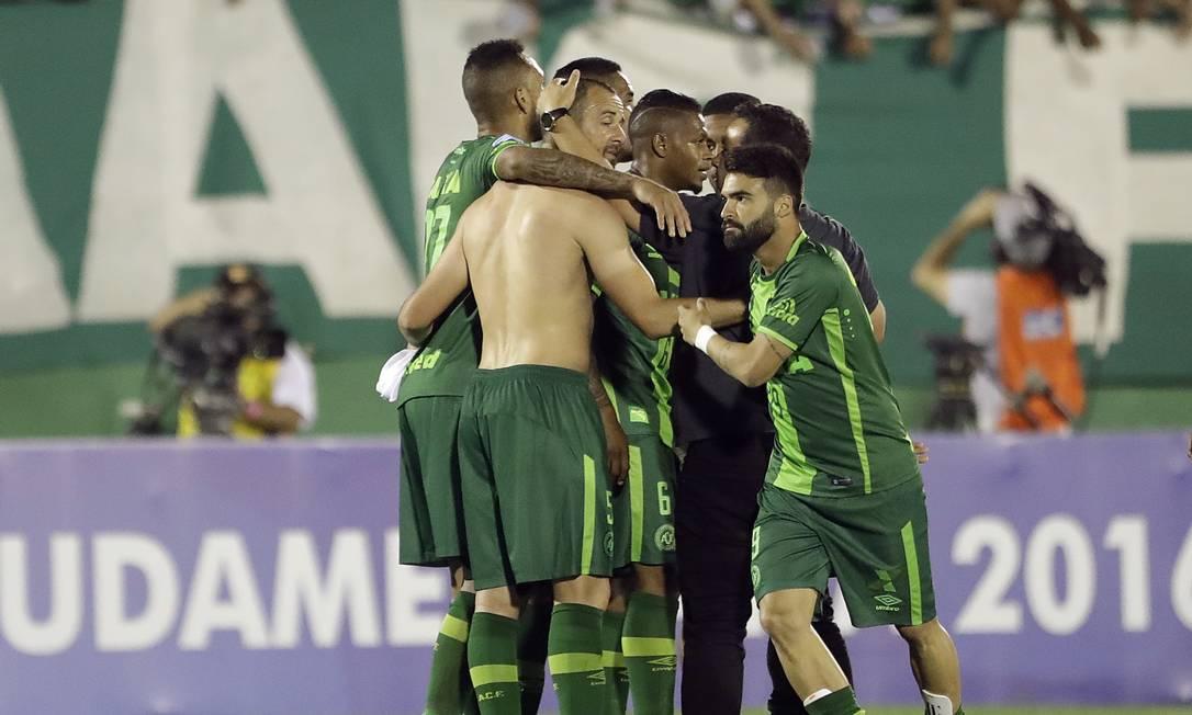 Em 23 novembro no jogo contra o San lorenzo em Chapecó Andre Penner / AP