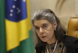 A presidente do Supremo Tribunal Federal, Cármen Lúcia Foto: STF