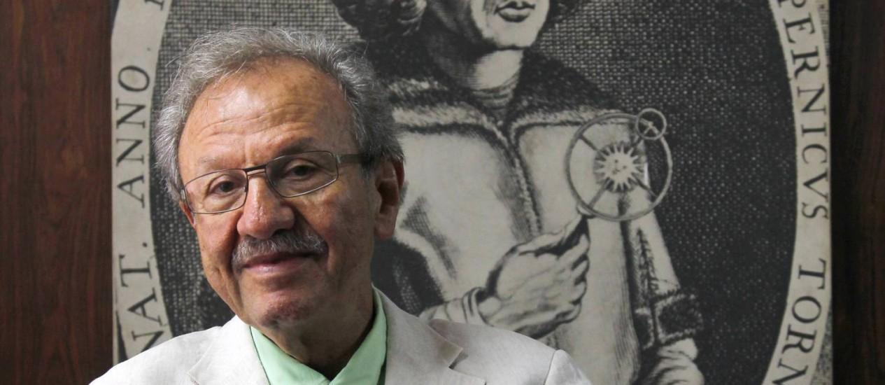 O matemático Jacob Palis em 2011, quando era presidente da Academia Brasileira de Ciências: reconhecimento nacional e internacional Foto: Custódio Coimbra