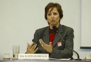 A ex-presidente do Banco Rural Kátia Rabello Foto: Aílton de Freitas / O Globo