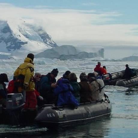 Expedição vai passar 20 dias em acampamento na Antártica Foto: DIVULGAÇÃO