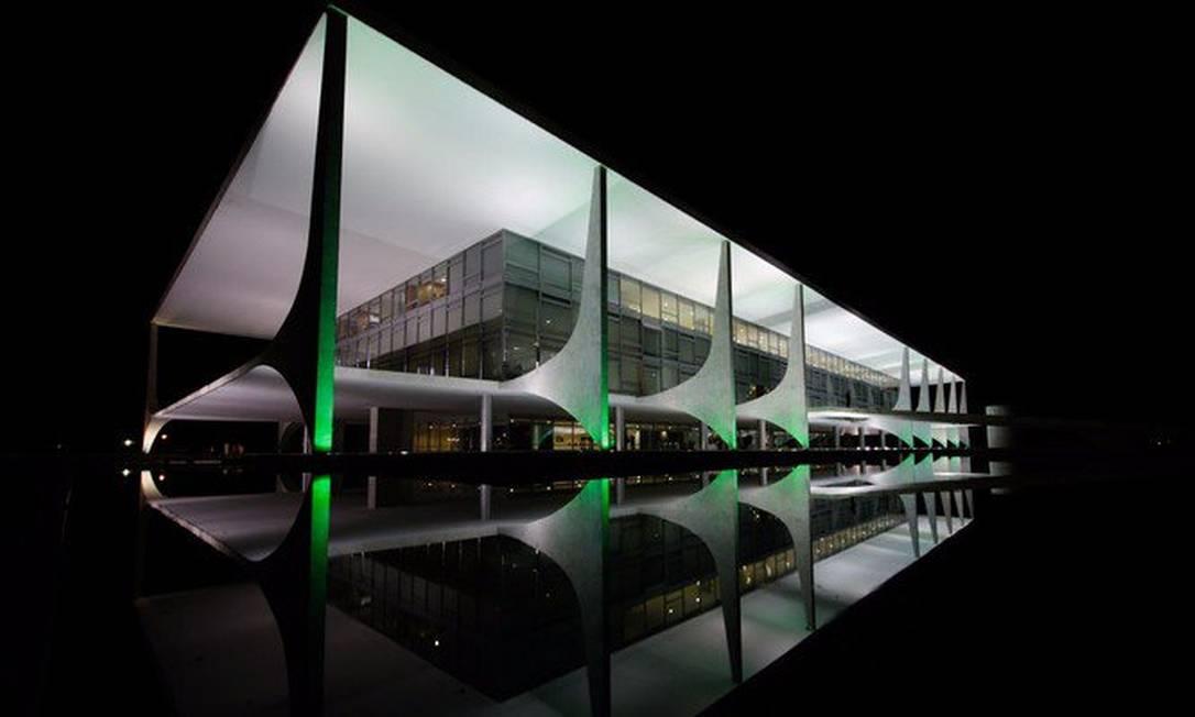 Palácio do Planalto, em Brasília Reprodução / Twitter