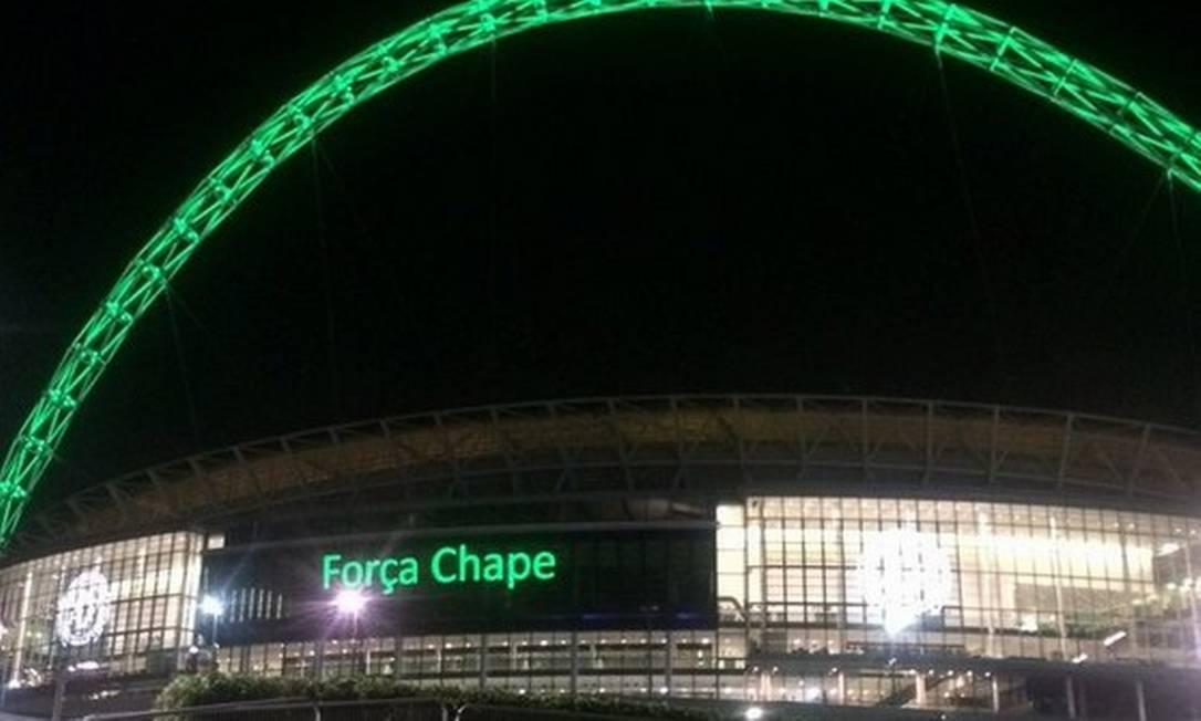 Estádio Wembley, em Londres Reprodução / Twitter