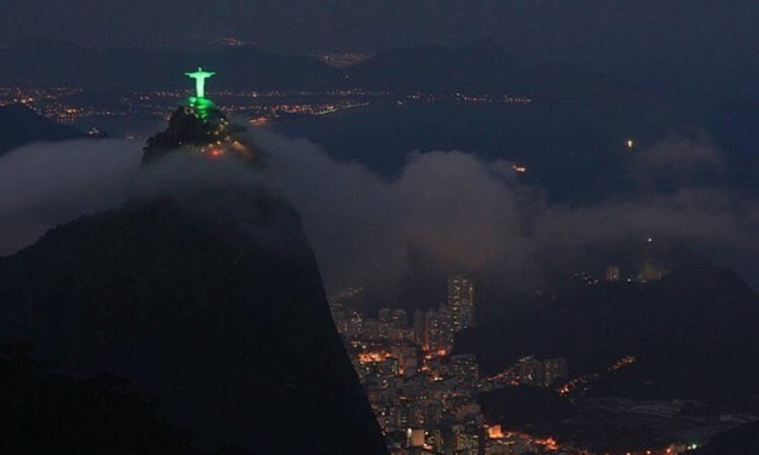 Cristo Redentor, no Rio Reprodução / Twitter