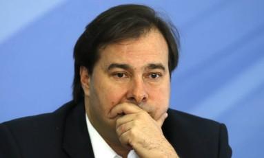 O presidente da Câmara, Rodrigo Maia (DEM-RJ) Foto: Jorge William / Agência O Globo /