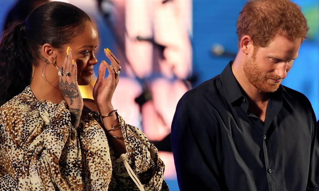 Rihanna é original de Barbados, ilha no Caribe que tem a Rainha Elizabeth II, avó de Harry, como soberana ADREES LATIF / REUTERS