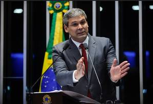Senador Lindbergh Farias (PT-RJ) em discussão sobre abuso de autoridade Foto: Reprodução TV Senado