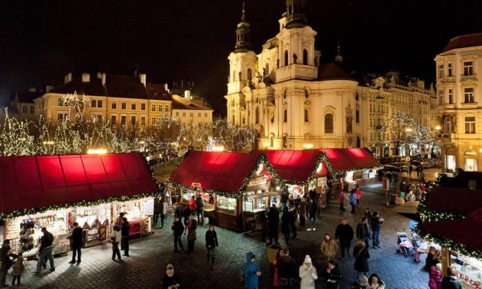 Mercado de Natal em Praga, República Tcheca. Foto: Martin Marak / Divulgação