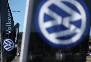 Logo da VW Foto: JUSTIN SULLIVAN / AFP
