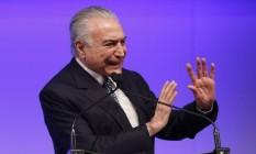 """Temer participa de evento em SP: """"Reconheço que a confiança caiu um pouco"""" Foto: Edilson Dantas / Agência O Globo"""