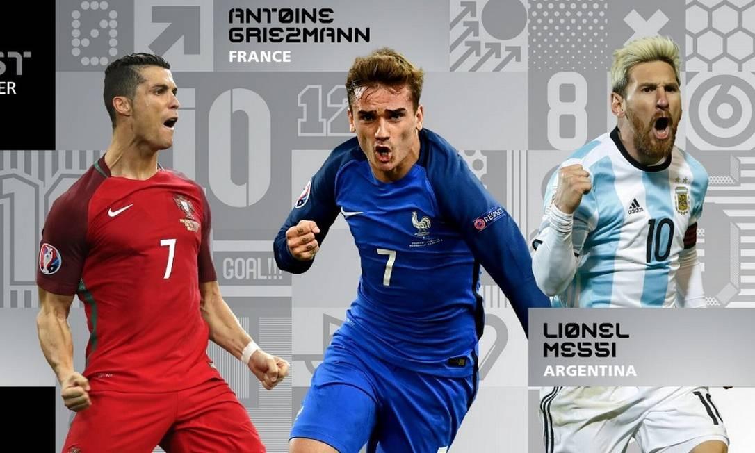 fad822aef2660 Cristiano Ronaldo, Griezmann e Messi vão disputar o prêmio de melhor jogador  do mundo da
