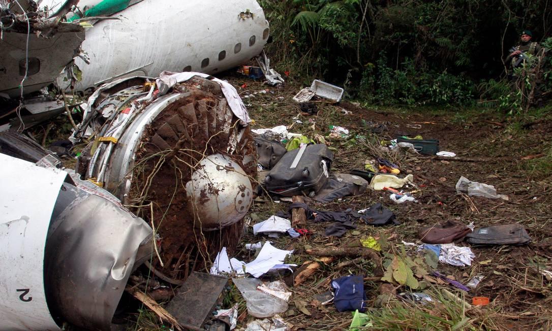 O avião da LaMia tinha quatro motores. Falta de combustível pode ter sido a razão principal do desastre na Colômbia Javier Nieto Alvarez - El Tiempo/GDA / Agência O Globo