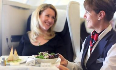 Pílula digital poderia melhorar o serviço de bordo, acredita British Airways Foto: BA / Divulgação