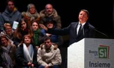 Renzi faz comício em Florença a favor do voto no 'sim' em referendo constitucional Foto: ALESSANDRO BIANCHI / REUTERS