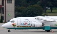 Um dos aviões da Lamia usados por times e seleções Foto: Andres Dorado / AP