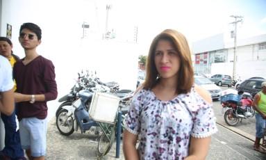 Dayane Santana não encontrou seu nome no local de prova informado pelo Inep Foto: Efrém Ribeiro