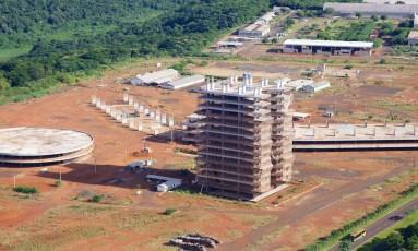 Obra para da Universidade Federal da Integração Latino-Americana, em Foz do Iguaçu (PR) Foto: Divulgação