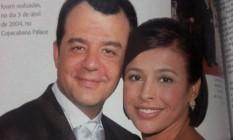 """Rotina de luxo. Cabral e Adriana se casaram no Copacabana Palace, em festa descrita como 'nababesca' por um dos convidados Foto: Reprodução da revista """"Casamento""""/3-04-2004"""