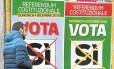 Eleitores vão às urnas neste domingo na Itália votar em referendo sobre reforma legislativa proposta pelo premier Renzi Foto: FILIPPO MONTEFORTE/AFP