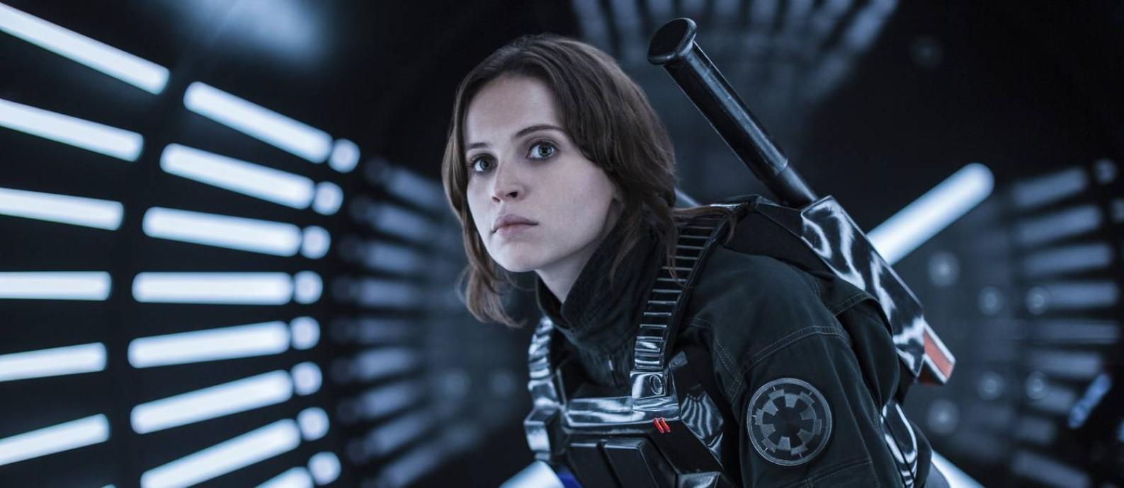 Felicity Jones como Jyn Erso em 'Rogue One: Uma história Star Wars' Foto: Jonathan Olley / AP