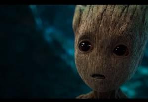 Bebê Groot no trailer de 'Guardiões da Galáxia Vol 2' Foto: Reprodução
