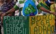 PA Rio de Janeiro (RJ) 04/12/2016. Manifestação nacional contra a corupção. Praia de Copacabana. Foto: Custódio Coimbra / Agência O Globo