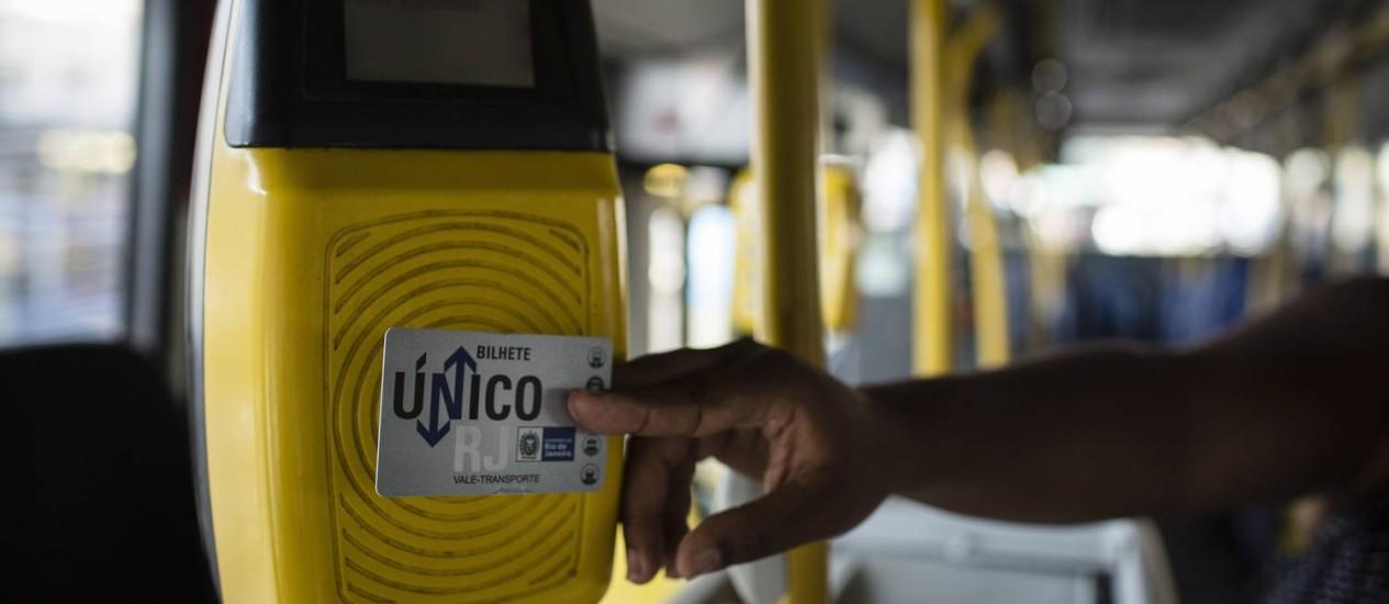 Bilhete Único Intermunicipal Foto: Fernando Lemos - 13/11/2015 / Agência O Globo
