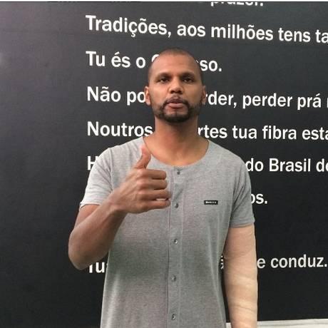 Clube postou a foto de Jefferson nas redes sociais Foto: Divulgação/Botafogo