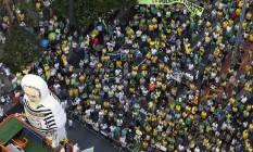 Manifestação na Av. Paulista Foto: Eilson Dantas / Agência O Globo
