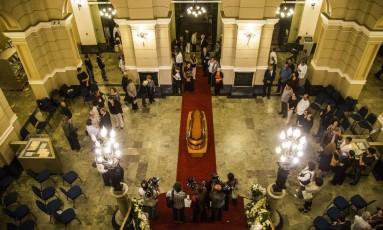 A Biblioteca Nacional recebe o velório de Ferreira Gullar Foto: Bárbara Lopes / Agência O Globo
