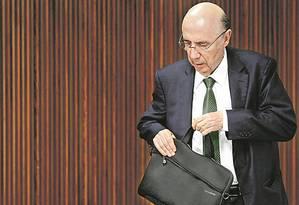 Meirelles: aliados do governo PSDB e do PMDB estão entre os maiores defensores da saída do ministro Foto: REUTERS / UESLEI MARCELINO
