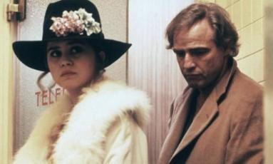 Maria Schneider e Marlon Brando em 'O último tango em Paris' Foto: Reprodução