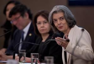 A presidente do Supremo Tribunal Federal (STF), ministra Cármem Lúcia participa do 10º Encontro Nacional do Poder Judiciário Foto: Jorge William / O Globo