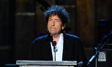 Dylan durante cerimônia do MusiCares, em 2015 Foto: Vince Bucci / AP