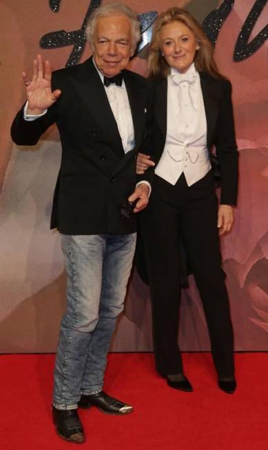 O estilista Ralph Lauren e sua mulher, Ricky Anne Loew-Beer DANIEL LEAL-OLIVAS / AFP