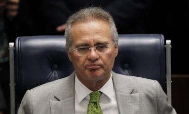O senador Renan Calheiros (PMDB-AL), afastado da presidência do Senado Foto: Givaldo Barbosa / Agência O Globo / 30-11-2016