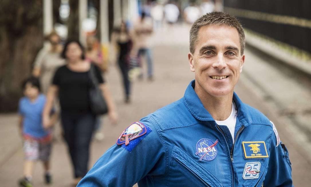 Christoph Cassidy, chefe do escritório de astronautas da NASA Foto: Ana Branco / Agência O Globo