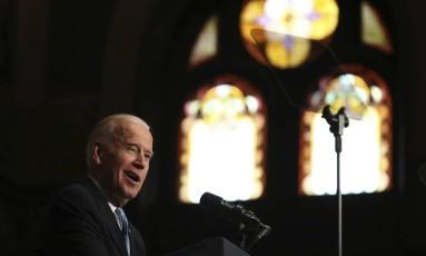 Biden fala na Universidade Georgetown, em Washington Foto: Manuel Balce Ceneta / AP