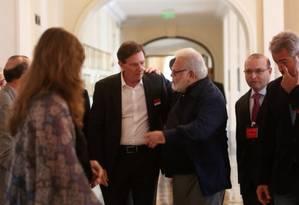 Crivella foi recebido em almoço com empresários nesta segunda-feira, 5 Foto: Custódio Coimbra