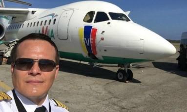 O boliviano Miguel Quiroga, de 36 anos, era piloto e um dos sócios da Lamia Foto: Reprodução Facebook