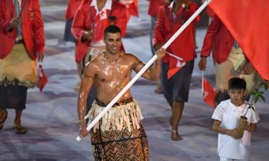 Pita quer representar Tonga nos Jogos de Inverno Foto: Olivier Morin / AFP
