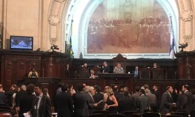 Deputados votam as medidas do pacote de ajuste Foto: Carina Gomes / O Globo