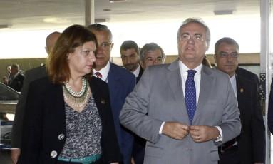 Senado desobedece STF e mantém Renan na presidência Foto: Givaldo Barbosa / Agência O Globo