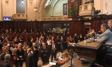 Deputados votam projetos do pacote de ajuste do governo Foto: Thiago Lontra / Divulgação - Alerj