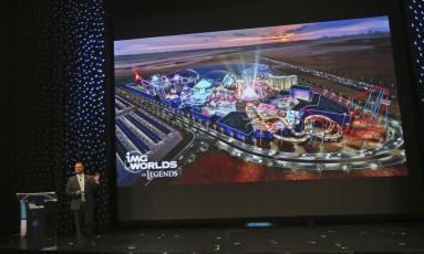 Apresentação do novo parque de diversões de Dubai Foto: Kamran Jebreili / AP